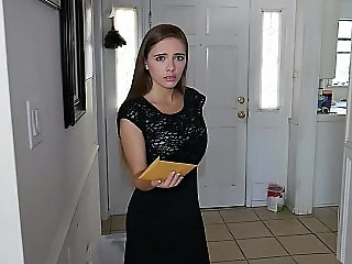 Young realtor with nice natural tits and perfect body