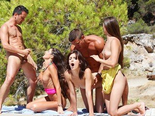 Watch school sex soiree by the river