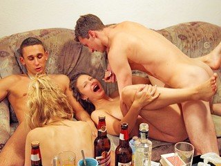 student ass-fuck fuckfest at college bash