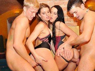 B-day school penetrate soiree in the pool