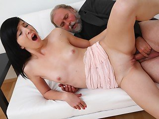 Alisa gets to learn how top deepthroat spunk-pump decently from her old fellow